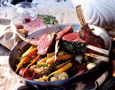 Rack of Lamb with Garlic and Herbs  This was amazing! Watch your temp carefully make sure it doesn't get overcooked.