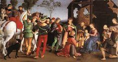 La Adoración de los Magos  Fecha: 1503-1504  Movimiento: Renacimiento  Técnica: Óleo sobre lienzo  Museo: Pinacoteca del Vaticano  Ubicación: Ciudad del Vaticano, Italia