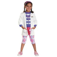 Girls Deluxe Doc McStuffins Halloween Costume for Toddlers
