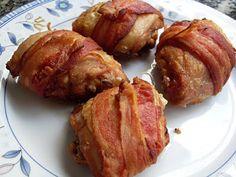 Sobrecoxa com Bacon ao Forno   Brasileira   Receitas Gshow