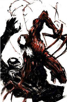 Carnage vs Venom from The Art of CJ Draden Venom Comics, Marvel Venom, Marvel Vs, Marvel Dc Comics, Marvel Comic Universe, Comics Universe, Univers Marvel, Hulk Logo, Comic Books Art