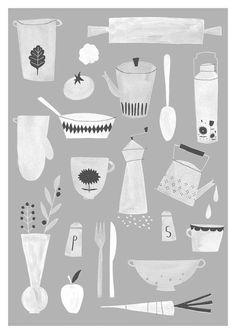 Kitchen print A3, €22.50 by Studio meez
