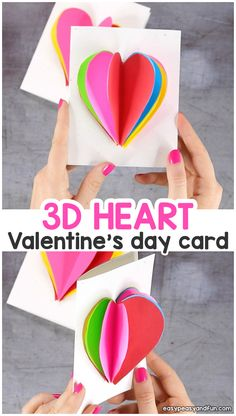heart card valentine's day for kids поделки, творчество, Kinder Valentines, Valentine Crafts For Kids, Valentines Diy, Fun Craft, Craft Kids, Craft Party, Valentine's Day Crafts For Kids, Kids Diy, Valentine's Cards For Kids