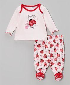 2-Piece Footed Pajama Set Snuggle Bug
