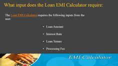How to calculate #LoanEMI? http://www.bankbazaar.com/finance-tools/emi-calculator.html