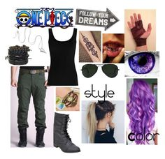 """""""One Piece OC"""" by ilovecuddles ❤ liked on Polyvore featuring Sass & Belle, Twenty, Ray-Ban and Capelli New York"""
