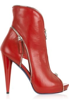Christian Louboutin Cut-Out Ankle Boot  <3