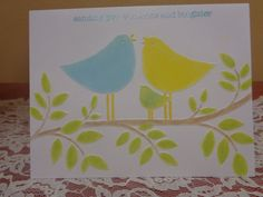 Embossed bird family by LuvinItCREATIONS on Etsy