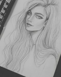 bleistiftzeichnung – Keep up with the times. Amazing Drawings, Cool Art Drawings, Realistic Drawings, Beautiful Drawings, Pencil Sketch Drawing, Girl Drawing Sketches, Pencil Art Drawings, Crying Girl Drawing, Pencil Portrait