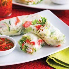 Rouleaux à la salade de goberge - Soupers de semaine - Recettes 5-15 - Recettes express 5/15 - Pratico Pratique