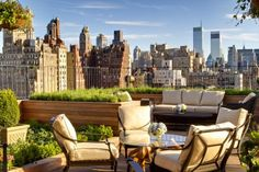 Roof Garden, New York, New York - Hotel: The Surrey What you will see: New York's Upper East Side and expansive views of Central Park Upper East Side, Hotel Rooftop Bar, Rooftop Terrace, Rooftop Nyc, Rooftop Gardens, Rooftop Dining, Rooftop Lounge, New York City Photos, New York Hotels