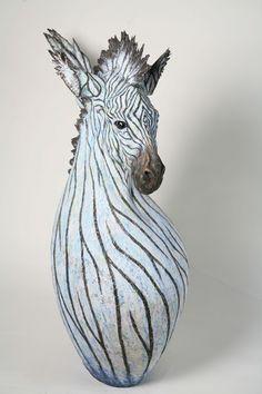 artist hiroki tashiro「雪化粧」/ snowy zebra,2008,wood based sculpture