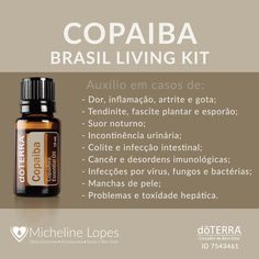 Copaiba One of the essential oils that are part of Living Brazil Kit bottles) Copaiba, Natural Home Remedies, Tai Chi, Beauty Routines, Fitspiration, Reiki, Essential Oils, Personal Care, Health