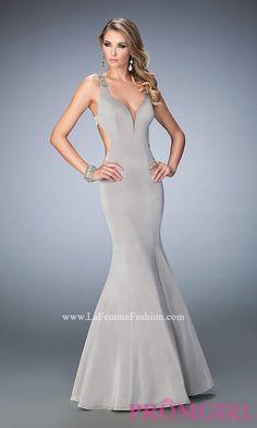 Jersey Open Back Long Sweetheart Prom Dress Style: LF-22631