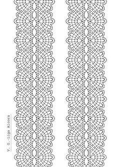 Liga novia                                                                                                                                                                                 Más Bobbin Lace Patterns, Bead Loom Patterns, Lace Earrings, Lace Jewelry, Hairpin Lace Crochet, Crochet Edgings, Crochet Motif, Crochet Shawl, Bobbin Lacemaking