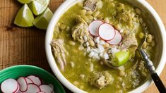 Mole Verde with Pork and White Beans 6 to 8 servingsMole Verde con Puerco y Frijol Blanco Ingredients For the Pork and Beans: country style ribs Mexican Kitchens, Mexican Dishes, Mexican Food Recipes, New Recipes, Cooking Recipes, Favorite Recipes, Ethnic Recipes, Entree Recipes, Chili Recipes