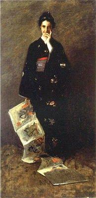 Japonisme. William Merritt Chase (1849 - 1916) The Japanese Book 1900