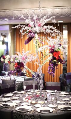 Bright blooms dripped with crystals at this @Four Seasons Hotel Houston wedding.