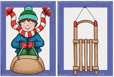Ideas trip: Wintery picture cards for DAZ - Learn German, Winter Kids, Picture Cards, Christmas Clipart, Art Drawings, Beautiful Pictures, Preschool, Clip Art, Illustration