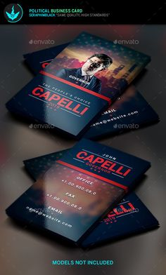 Political Election Business Card Template  -  PSD Template • Download ➝…
