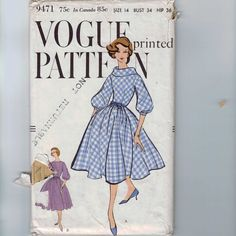 1950s Vintage Sewing Pattern Vogue 9471 by historicallypatterns, $10.00