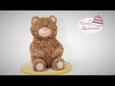 Teddy Torte | 3D Teddy Bär Motivtorte | Teddy Bear Cake von Nicoles Zuckerwerk - YouTube