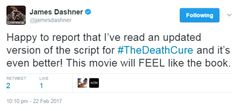 The Death Cure. Pinned by @lilyriverside