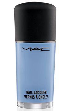 MAC Cosmetics nail polish in Bleu Velvet (available April 11)