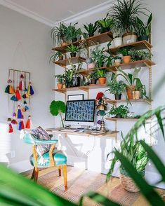 You will not mind obtaining job finished with a home office like among these. Discover ideas for your home office design with ideas for decor, storage space and furniture. Home Office Design, Home Office Decor, Home Decor, Office Ideas, Office Designs, Office Setup, Office Style, Indoor Garden, Indoor Plants