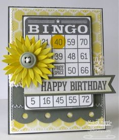 Bingo Birthday by mrupple - Cards and Paper Crafts at Splitcoaststampers