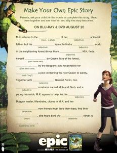 Epic Movie Fun is Guaranteed with Printable Activity Sheets and Healthy Recipes-Giveaway