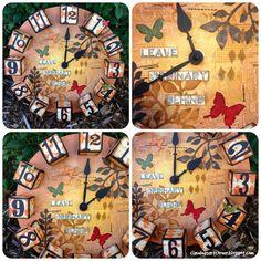 Claudine's Art Corner: Mixed Media Clock - An Artist Trading Block Project