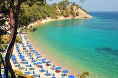 A magnificent beach with emerald sea water in Samos island ❤ Samos Greece, Exotic Beaches, Greece Holiday, Greece Islands, Paradise On Earth, Greece Travel, Beach Fun, Beautiful Islands, Places To Go
