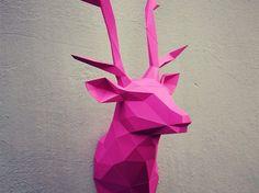 Papercraft deer head  printable DIY template 13 by WastePaperHead
