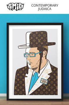 Smig AKA Guy Sebbag, an artist inspired by Pop Art, Street-art, Fashion and the Jewish community. Arte Judaica, Jewish Humor, Jewish Men, Modern Art Paintings, Pop Art, Street Art, Digital Art, Canvas Art, Contemporary