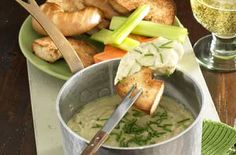 Stilton Fondue.This delicious melting cheesy starter is perfect for any dinner party