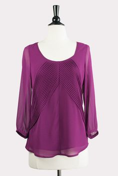 Picking Berries Pleated Blouse - Hourglass Boutique: http://www.hourglassboutique.com/products/picking-berries-pleated-top