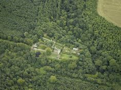Aerial view of Fordell Castle in Fife - Henderson Family