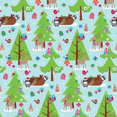 Woodland Winter Whimsy Printed Gift Wrap - Half Ream - Holiday Collection