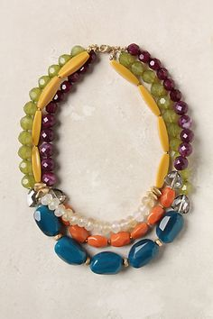 The mix of stones = <3 Tarn Necklace by Anthropologie