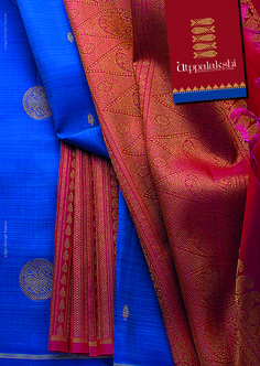 Breathtakingly beautiful. Any which way, you view this rich blue and red potli…