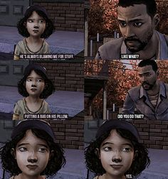 It's the little things that make The Walking Dead such an amazing game.