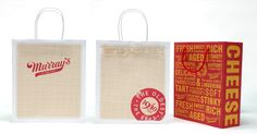 Packaging for the renowned Village cheese shop. Design by Woody Pirtle.