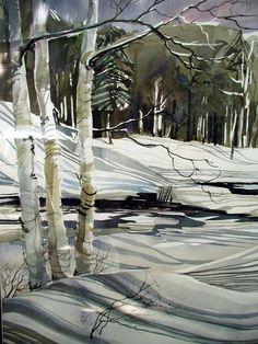Birch trees in winter.