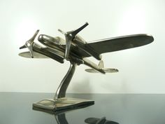 Art deco war plane display