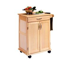 Home Styles Wood Kitchen Cart