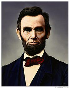 Abraham Lincoln, Decimosexto presidente de los E.E.U.U. (1809-1865) Estadounidense.