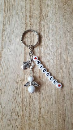 Red Velvet Desserts, Music Jewelry, Scorpio Moon, Name Art, Pretty Cool, Key Rings, Cute Gifts, Glass Bottles, Book Worms