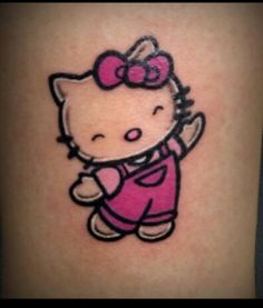 083e5b2af453 Hello kitty tattoo idea...I want this somewhere on my body.