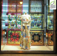 Dolce Gabbana window displays Budapes Brilliant to print images on duratran and hang as a backlit backdrop